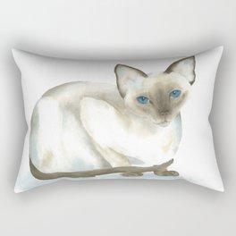 chocolate point siamese cat 1 Rectangular Pillow