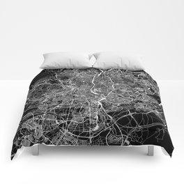 Madrid Black Map Comforters
