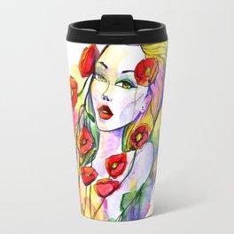 Waterolor beautful girl Travel Mug