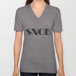Snob Unisex V-Neck