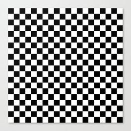Checker (Black & White Pattern) Canvas Print