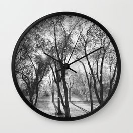 Into The Shadows Wall Clock