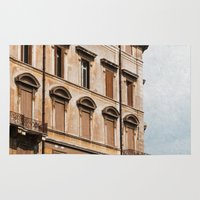 italy Area & Throw Rugs featuring Rome Italy by ZenzPhotography