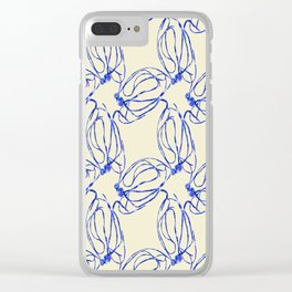 Seaweed Abstract Clear iPhone Case