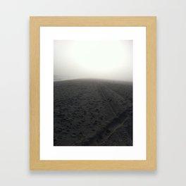 Gloomy Beach  Framed Art Print