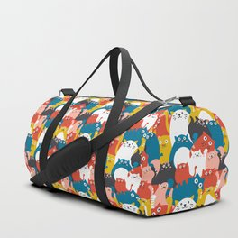 Cats Crowd Pattern Duffle Bag