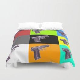 Bang Bang -  Sig Sauer Pistol 9mm Duvet Cover