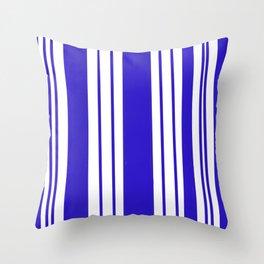 Royal Blue Stripes Throw Pillow