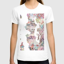 Seattle map T-shirt