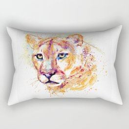 Cougar Head Rectangular Pillow