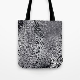 gush of dots in black and white Tote Bag