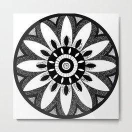 Star Anise Hand Drawn Mandalas Metal Print