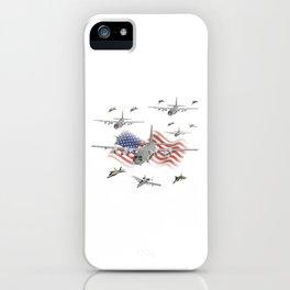 American Air Force Armada AC130 F22 F16 A10 iPhone Case