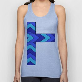Arrows, in blue Unisex Tank Top