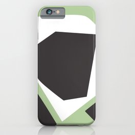Grow Into Green - Minimal Geometric Abstract iPhone Case
