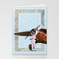 aviation Stationery Cards featuring Aviation by Allegra Jones