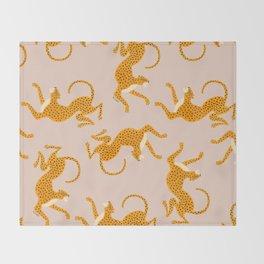 Leopard Race - pink Decke