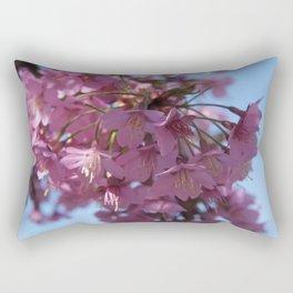 Prunus kursar - the signs of spring Rectangular Pillow