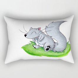 Cheerful Little Squirrel Rectangular Pillow
