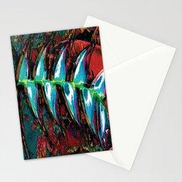 Flora Celeste Kyanite Aqua Aura Leaves Stationery Cards