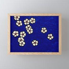 Small white flowers Framed Mini Art Print