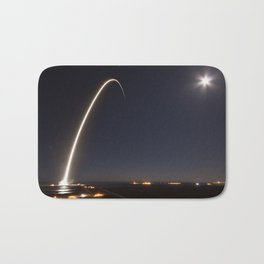 SpaceX Launch At Night Bath Mat