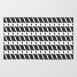 Black and white geometric abstract background, cloth pattern, goose foot. Pied de poule. Ve Rug