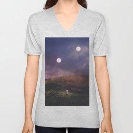 Binary Moons Unisex V-Neck
