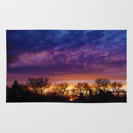 Purple Sky Sunset (1) - Jeronimo Rubio Photography 2016 (All Over Print) Rug
