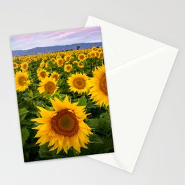 Field of Sunflowers, California Stationery Cards