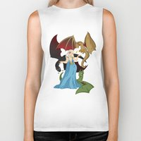 mother of dragons Biker Tanks featuring Mother of Dragons by Danielle Gransaull