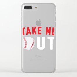 Take Me Out to the Ballgame Clear iPhone Case