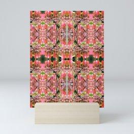 Pink Floral Pattern Mini Art Print