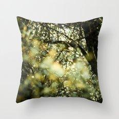 Bokah tree Throw Pillow