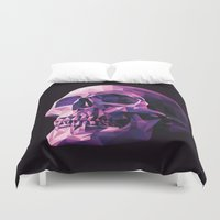 skull Duvet Covers featuring Skull by Roland Banrevi