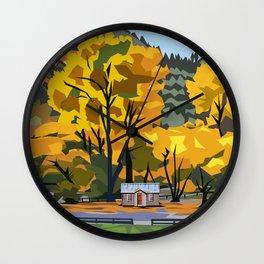 Golden Arrowtown Wall Clock