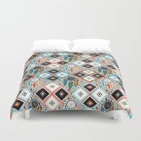 quilt Duvet Covers featuring Southwest Quilt by Vannina