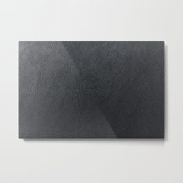 Bright Black Leather Metal Print