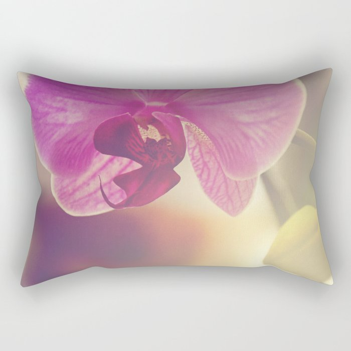 Morning Orchids Rectangular Pillow