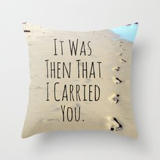 Footprints Throw Pillow