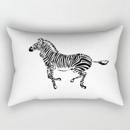 Running Zebra Rectangular Pillow