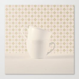 Two Cups (Retro and Vintage Still Life Photography)  Canvas Print