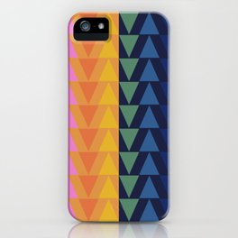 Day and Night Rainbow Triangles iPhone Case