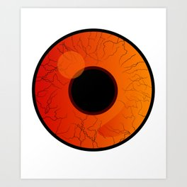 Pupil And Iris In Closeup Eye Doctor Gift Art Print