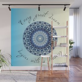 Inspirational quote - Every great dream begins with a dreamer  Wall Mural