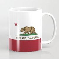 oakland Mugs featuring Oakland California Republic Flag by NorCal