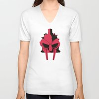 gladiator V-neck T-shirts featuring Gladiator by FilmsQuiz