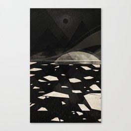 the white shore Canvas Print