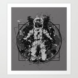 the Vitruvian astronaut Art Print