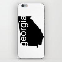 georgia iPhone & iPod Skins featuring Georgia by Isabel Moreno-Garcia